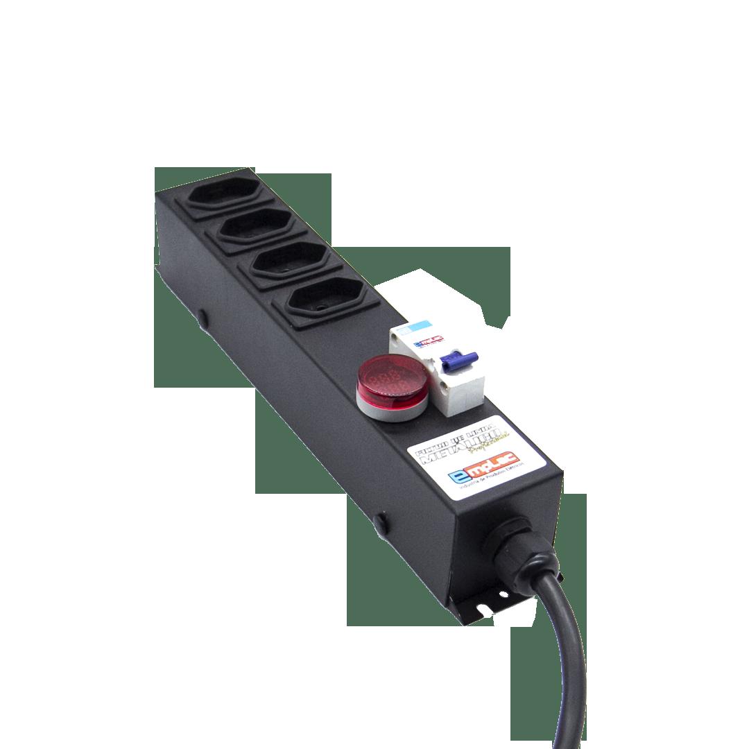 Filtro de Linha Metálico com Voltímetro e Amperímetro
