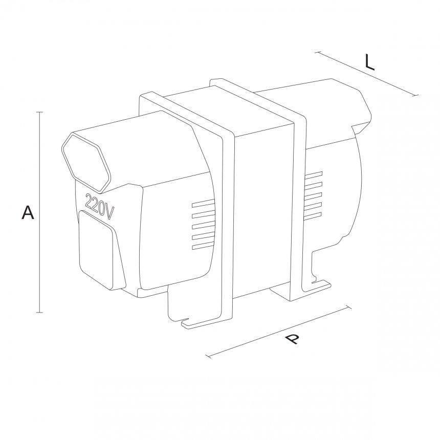 Autotransformador 100VA